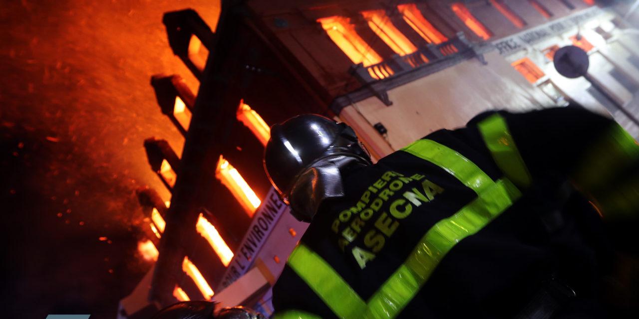 Reportage photos sur l'incendie à l'ONE à Antaninarenina